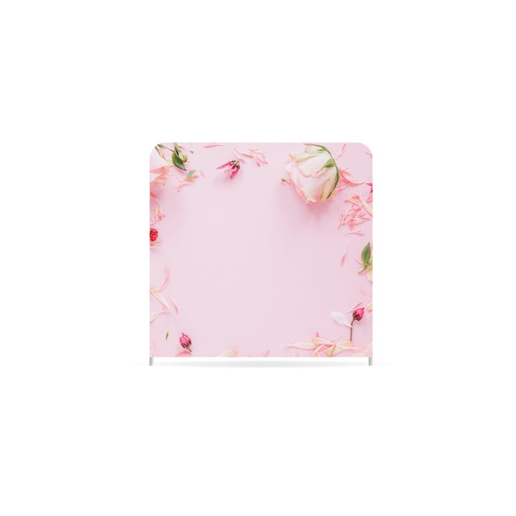Cadre à fleurs photobooth toile de fond